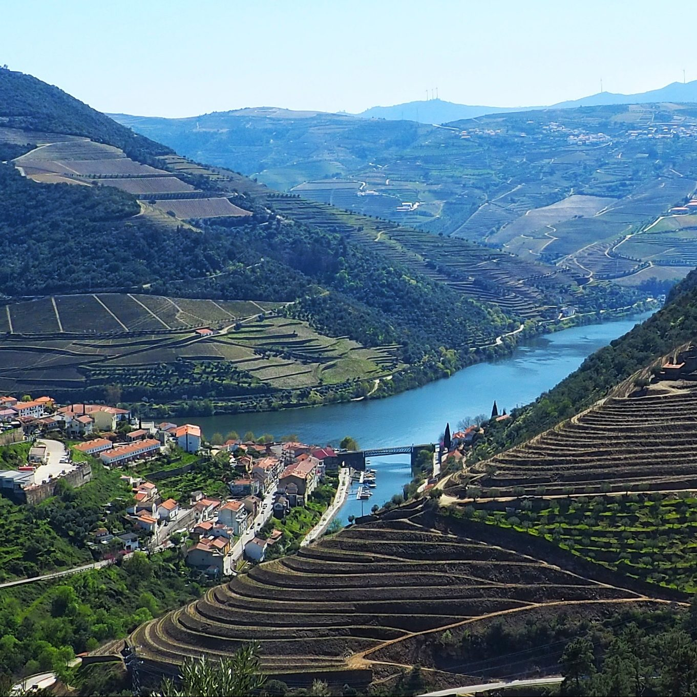 Douro valley wine tour pinhao village