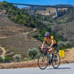 cyclist in douro valley